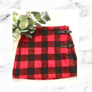Forever 21 Red & Black Buffalo Check Mini Skirt